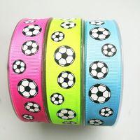 Custom Printed Team Soccer Hair Bow Ponytail Holder Cheer Bow Football