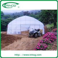 Plastic film tunnel greenhouse for agriculture