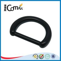 Black zinc alloy high quality d ring for bag