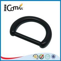 Black zinc alloy high quality d ring for bag