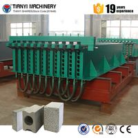 Lightweight polyurethane concrete sandwich wall panel equipment