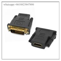 New 24 + 1 DVI Male To HDMI Female Converter Adapter Adaptor Dual Link Connector for HDTV PC LCD Who thumbnail image