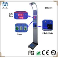 DHM-15 Coin Operated Height Instrument Weighing Scale Mechanical for Adults Balance