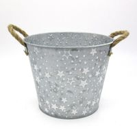 Cheap price metal flower bucket garden pot