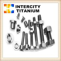 China titanium fastener manufacture DIN912/DIN933/DIN934 for GR2 titanium bolt/titanium screw