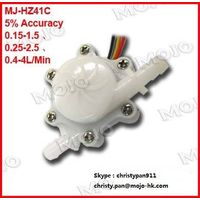 MJ-HZ41C 0.15-1.5L/min,0.25-2.5L/min,0.4-4L/min 6mm POM hall water sensor