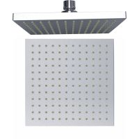 square overhead eight inch CP top sray rain shower