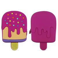 FAMA licensed factory cartoon ice cream shape custom funny design mini coin purse silicone wallet