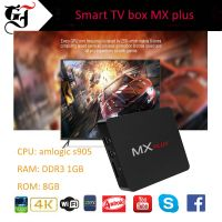 High quality MX PLUS A53 Penta-core GPU Amlogic s905 XBMMC preloaded KODI free pron Android tv box