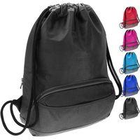 Custom Logo Drawstring Printed Polyester Gym Bags Training Gymsack Polyester Drawstring Bag thumbnail image