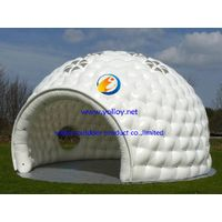 Inflatable White Dome with Windows