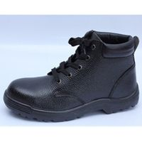 safety shoes work boots 9285 embossed leather pu outsole