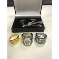 Top High Quality Hard Enamel CuffLinks Tie Clips Rings Accessories thumbnail image