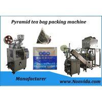 Triangle Nylon ultrasonic seal tea bag filling machine, sikri tea bag packaging machine