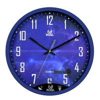 Non-kicking New Round wall Clock Voice control LCD Backlight