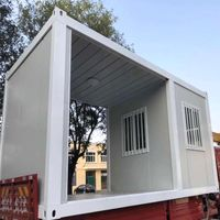 Low Cost Steel Framed Luxury Prefab Container Houses for Restaurant/School thumbnail image
