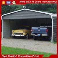 Prefabricated portable steel building metal tube garage for car