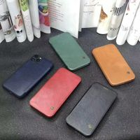 Customized Design Business Series PU Leather Flip Cover Case for iPhone 12 Hot Selling Phone Accesso
