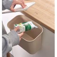 Cabinet Basket Wastebaskets, Multifuctional Hanging Trash Can Waste Bins Garbage Container with lid thumbnail image
