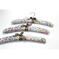 Fashion flower satin padded hanger