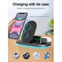 Factory Wholesale 3 in 1 Fast Wireless Charging Station Stand Pad PM-Z6S thumbnail image