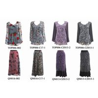 60% Viscose 40% Silk Velvet Lady's Tops and skirts