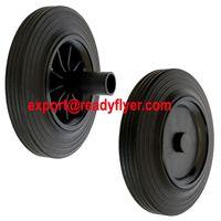 """200mm/8"""" Mobile Garbage Bin Rubber Wheel for Plastic Dustbin"""