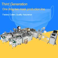 Full Automatic One Drag Two Plane Mask Making Machine