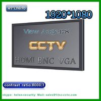 CCTV 47inch LCD Monitor with 8000:1 contrast vga, hdmi, bnc input