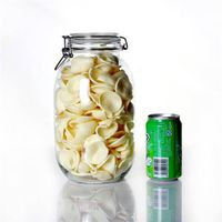 large glass storage jars