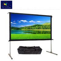 80-135 inch portable folding HD aluminium frame projector screen outdoor thumbnail image