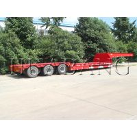 multi axles semi low bed trailer   China made lowboy trailer   Low loader semi-trailer   100 tons Eq