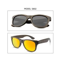 Handmade Wood Framed Glasses China Ebony Wood Polarized Sun Glasses