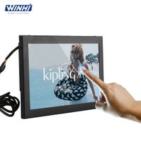 10 inch lcd monitor metal case wall mounted easy operate resistive touch screen HD lcd monitor