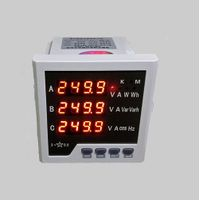 Panel mount LED multifunction power meter for industrial automation and controls