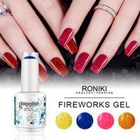 RONIKI FIREWORKS COLOR GEL POLISH,Nail Matte Gel Polish,Nail Painting Color Gel,Nail Art Gel