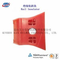 Railway rail insulator /rail guide plate for Nabla clip system