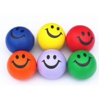 Mini hot-sell colorful Smile Stress soft emoticon Jumping ball toy