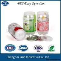 345ml PET easy open can for soda, drinks, juice