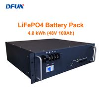 DFUN Lithium Battery Pack 48V 100Ah Module Lifepo4 Battery Pack 4.8kwh Maintenance Free