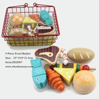 toddler toys 9 piece food basket kitchen play food