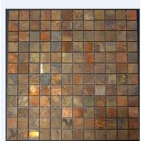 Copper mosaic tiles for wall claddding