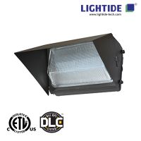 DLC Qualified 90W LED Wall pack Lights, 200-480VAC, Glass Refractor, 5 Years Warranty