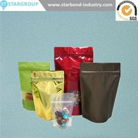 Flexible Laminated stand up Complex 3 sides heat seal sea food bags vacuum packaging thumbnail image