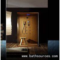 Wooden steam shower cubicle cabin/shower cubicles/shower enclosure/shower house/steam shower cabins thumbnail image