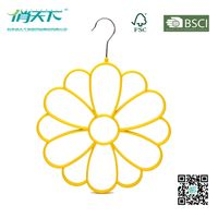 Betterall Yellow Color Flowery PVC Metal Hanger for Ties & Scarves