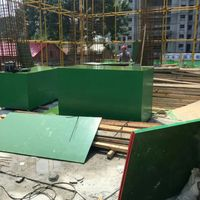 Plastic plywood concrete formwork plywood.Green film faced plywood for Middle east Market
