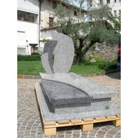 Modern headstone granite monument with slab