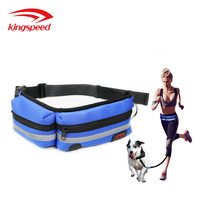 Mesh Padded Neoprene Running Waist Bag Adjustable Nyon Webbing Waistband Dog TreatTraining Pouch for