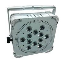 24000MHA Battery Powered Wireless DMX 12 lens 5W RGBWA 5in1 LED Flat Par